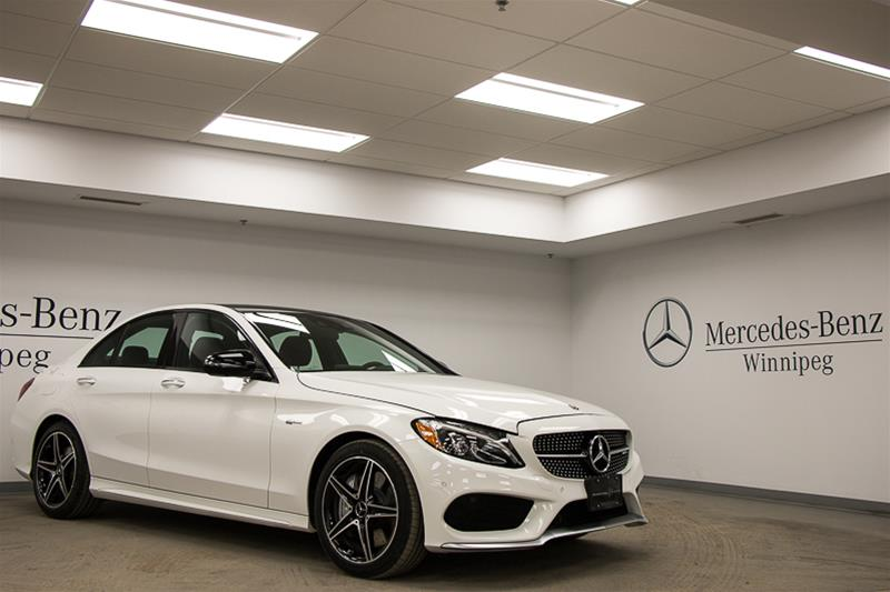 New 2018 mercedes benz c class c43 amg sedan in winnipeg for Mercedes benz c43 amg lease